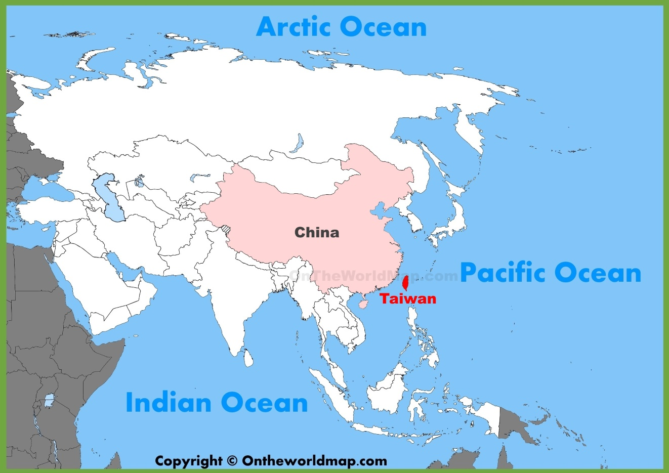 Taiwan location on the Asia map