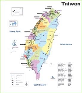 Taiwan raiway map