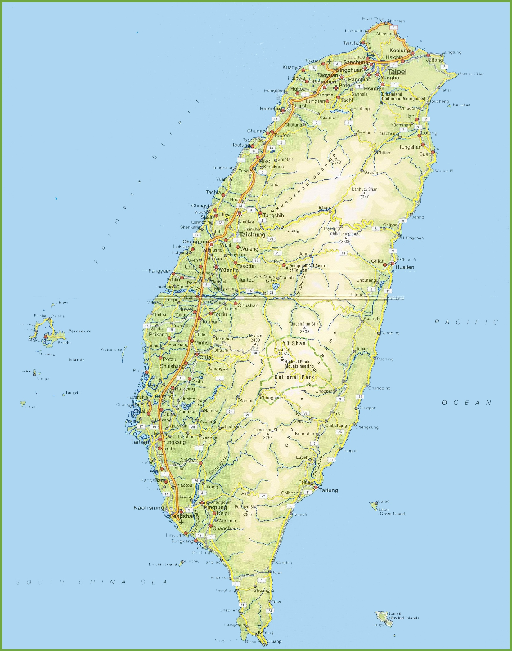 Taiwan Maps Maps of Taiwan Republic of China