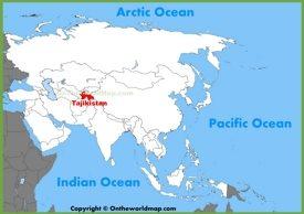 Tajikistan location on the Asia map
