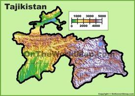 Tajikistan physical map