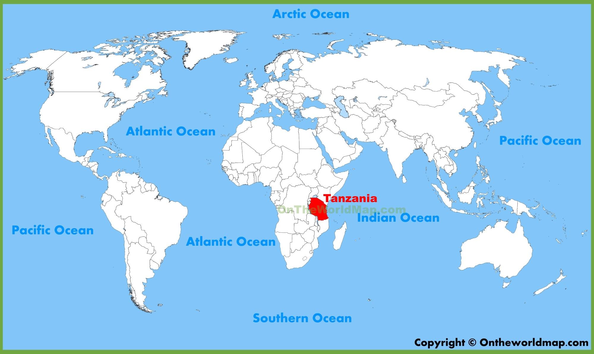 Tanzania maps maps of tanzania full size tanzania location map gumiabroncs Image collections