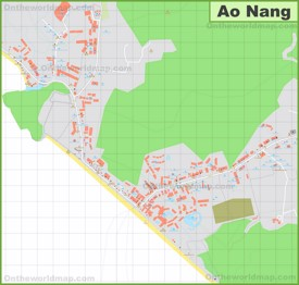Detailed tourist map of Ao Nang<