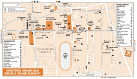 Around Siam Square and Thanon Ploenchit map