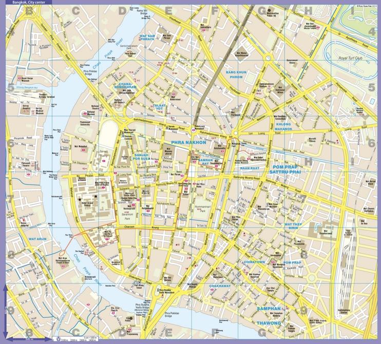 Bangkok city center map