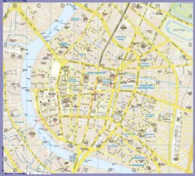 Bangkok city center map