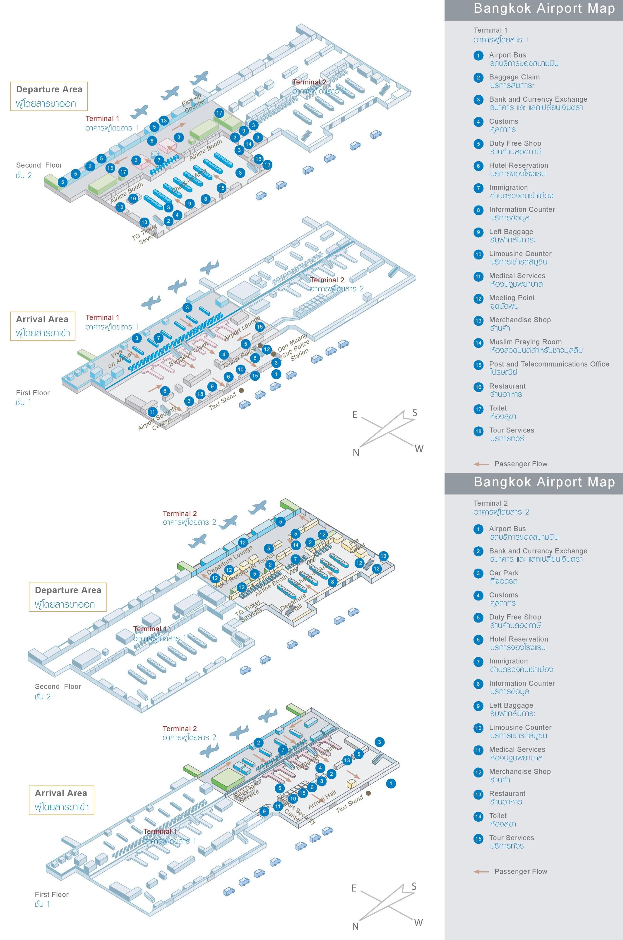 Bangkok Map Don Muang Airport Bangkok Don Mueang Airport map