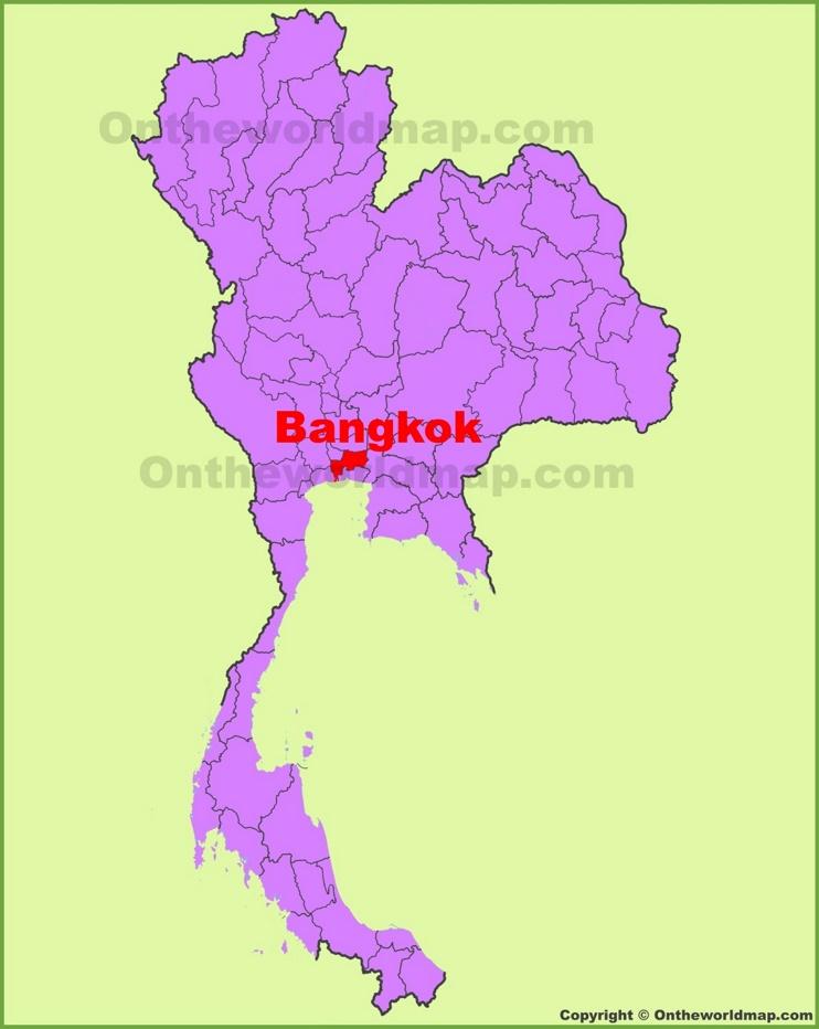 Bangkok location on the Thailand Map