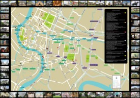 Bangkok sightseeing map