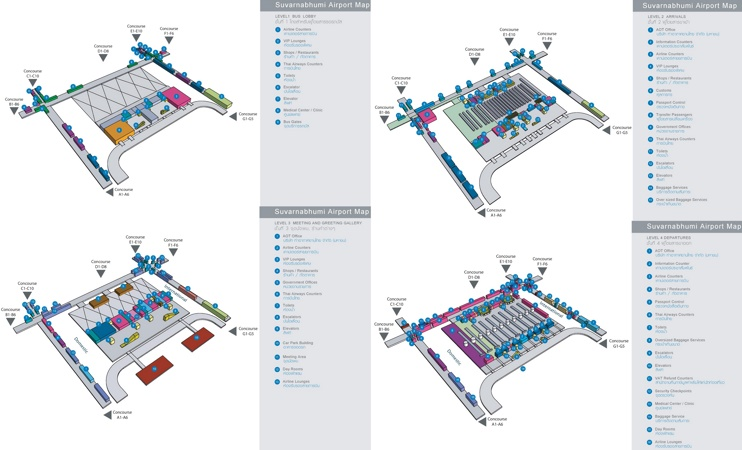 Bangkok Suvarnahumi Airport map
