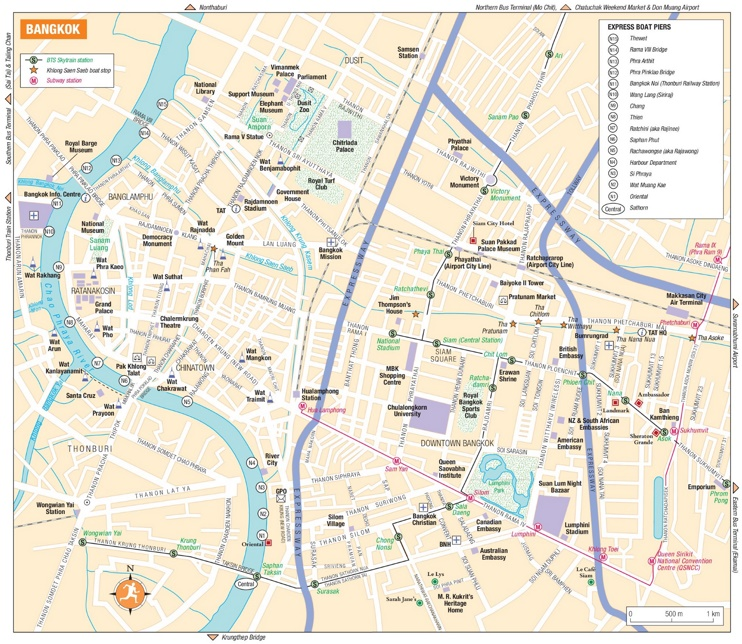tourist map of thailand pdf