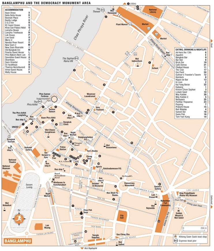 Banglamphu map