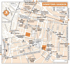 Bangkok downtown map