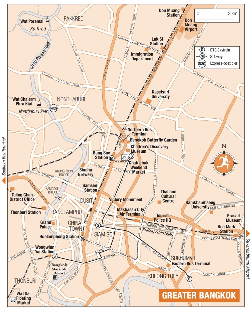 Greater Bangkok map