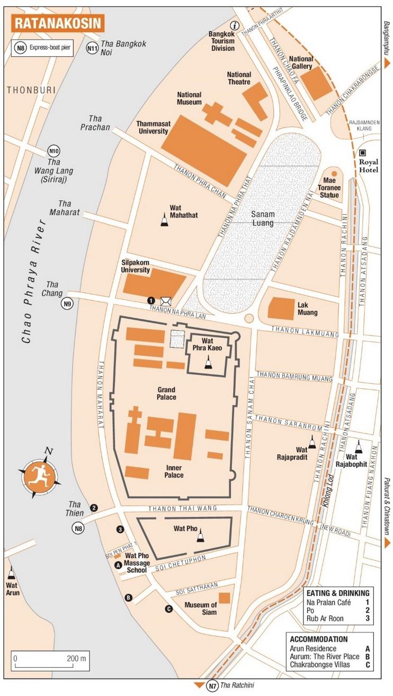 Ratanakosin map