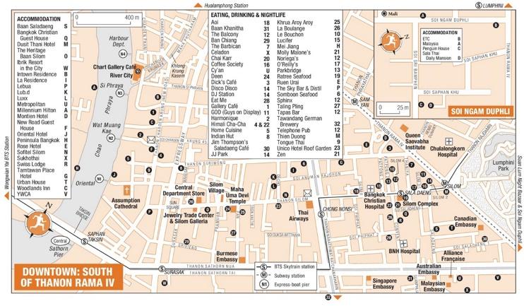 South of Thanon Rama IV map