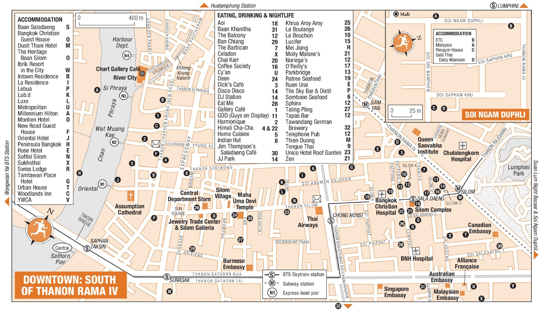 South of Thanon Rama IV map Bangkok