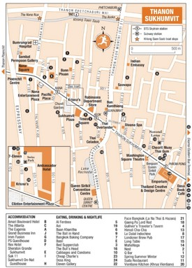 Thanon Sukhumvit map