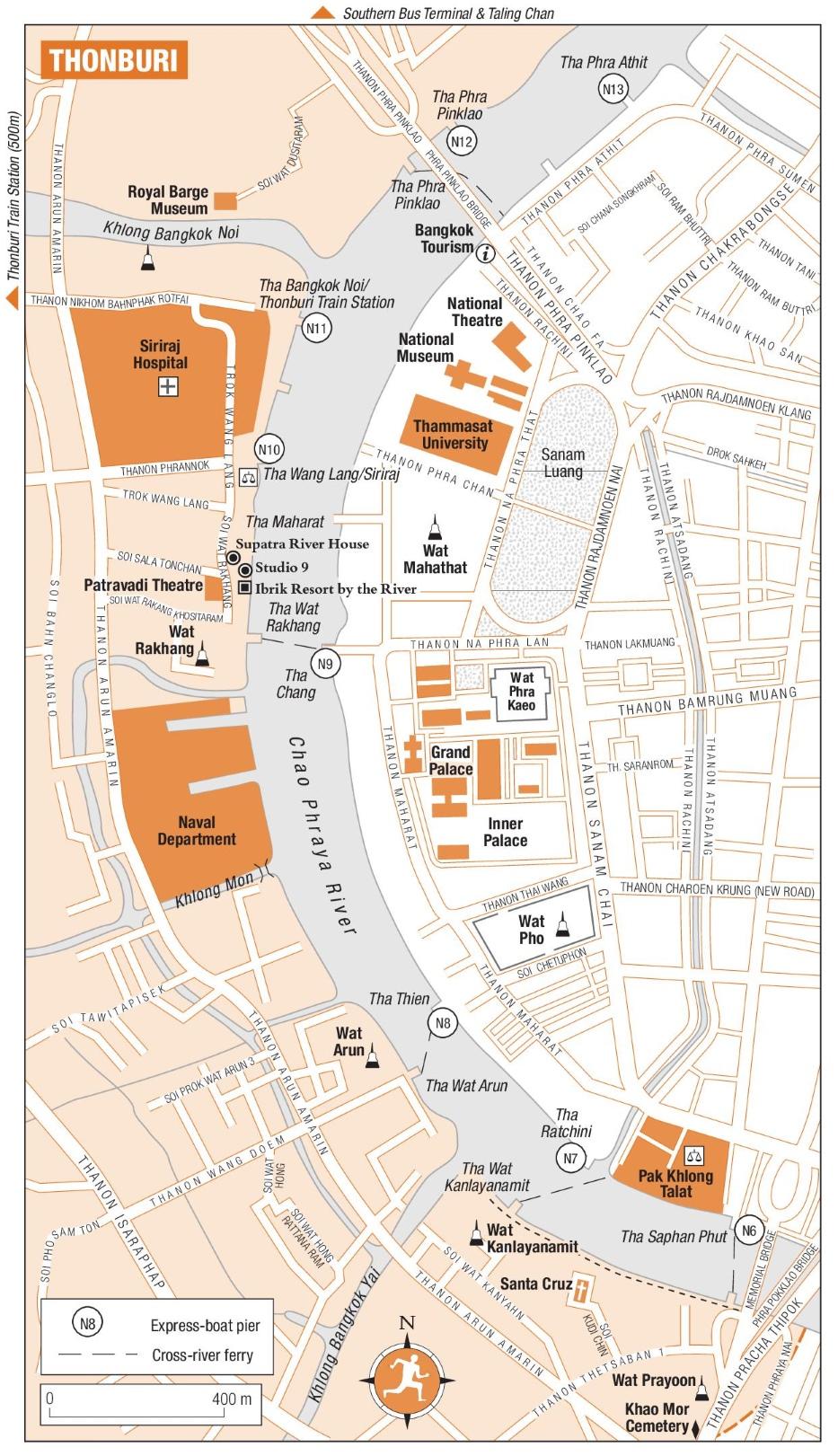 Thonburi Map  Bangkok