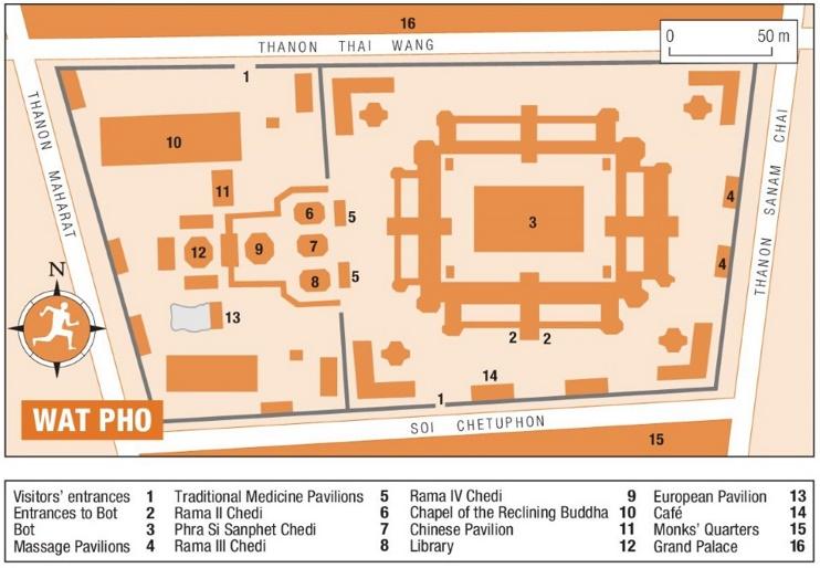 Wat Pho map