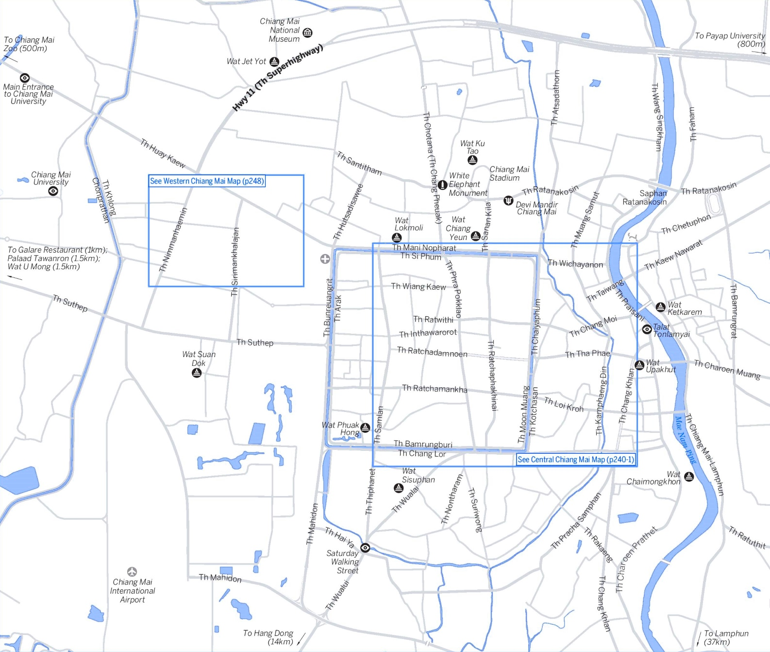 Chiang Mai area map