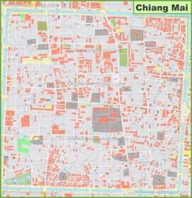 Chiang Mai city center map