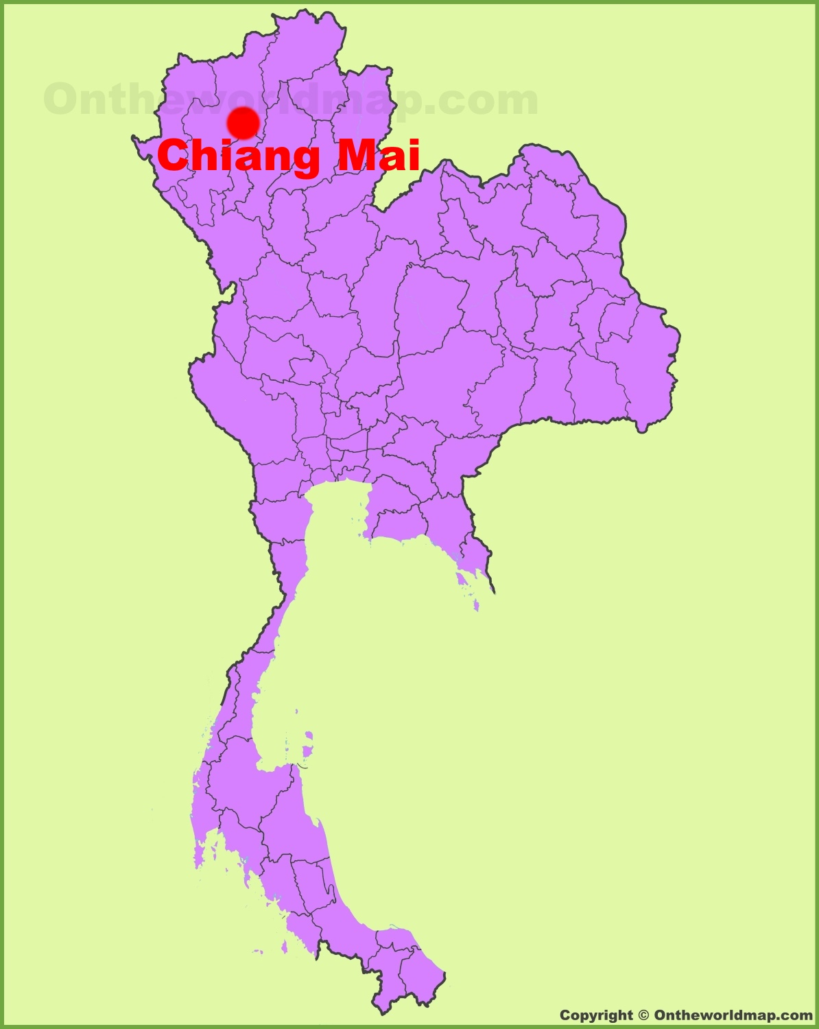Chiang Mai Maps | Thailand | Maps of Chiang Mai on