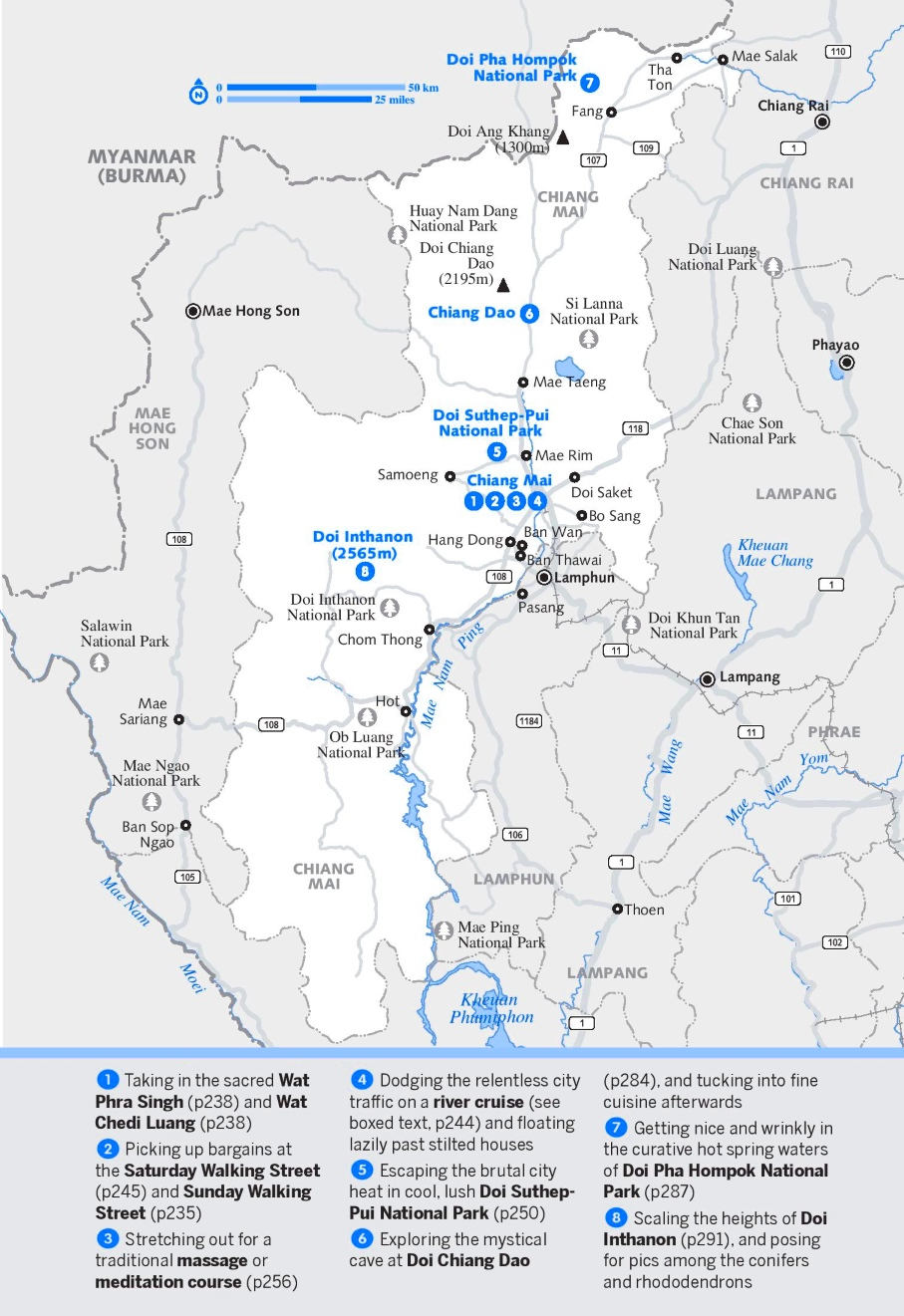Chiang Mai Province map on