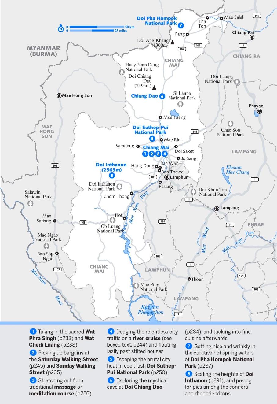 Chiang Mai Province map