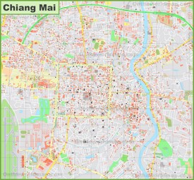 Large detailed map of Chiang Mai