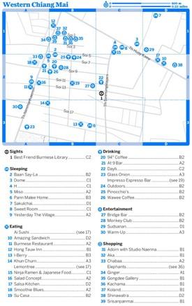 Western Chiang Mai map