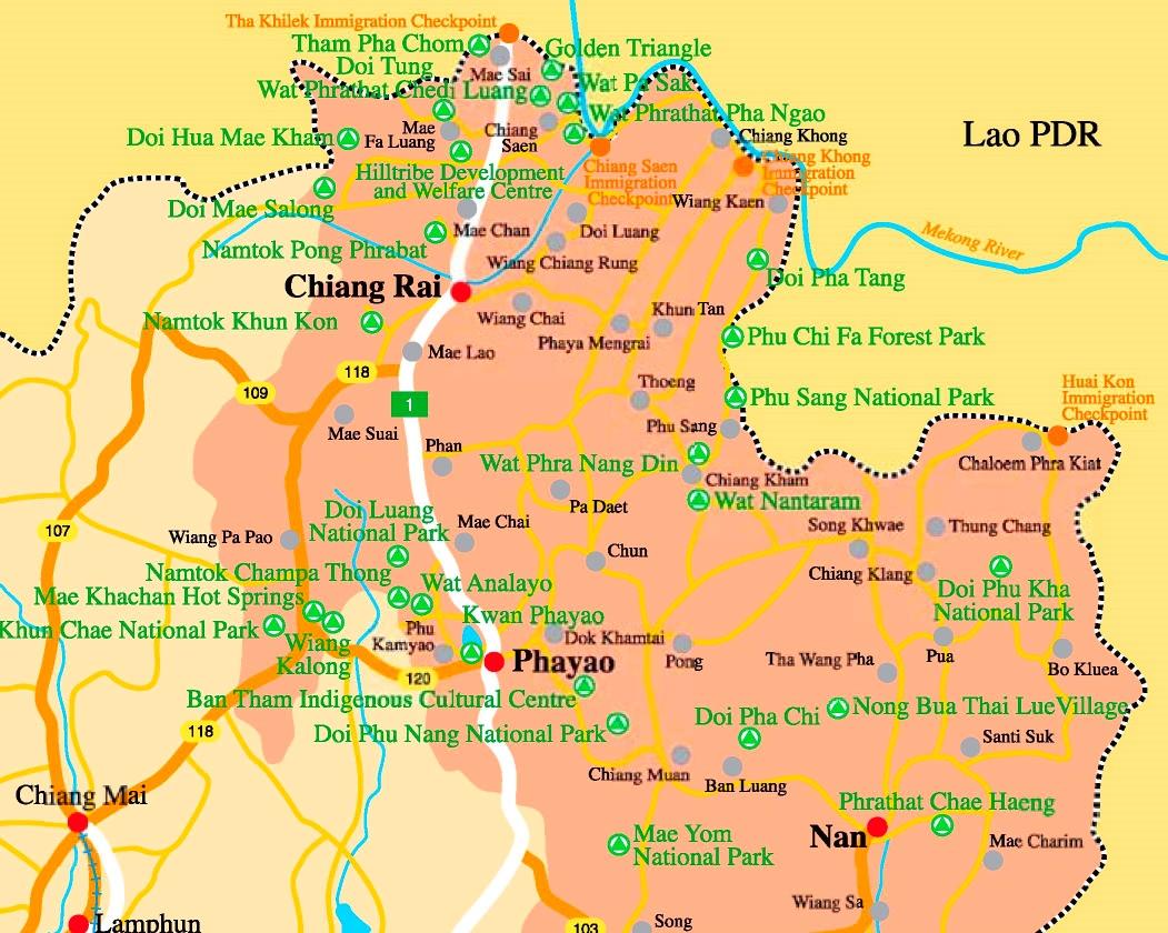 Chiang Rai Province map