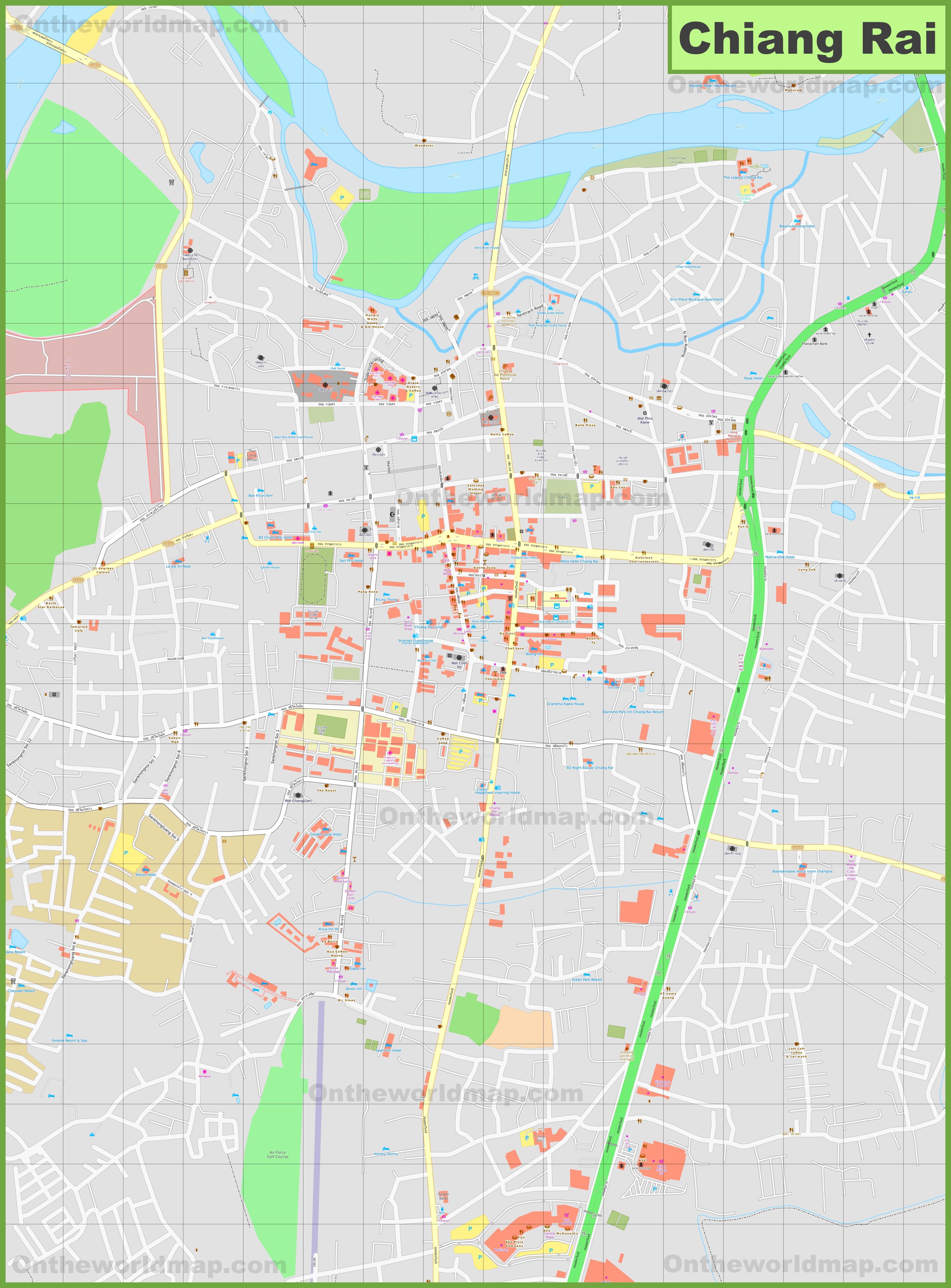 Chiang Rai Maps Thailand Maps of Chiang Rai City