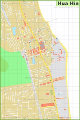 Hua Hin city center map