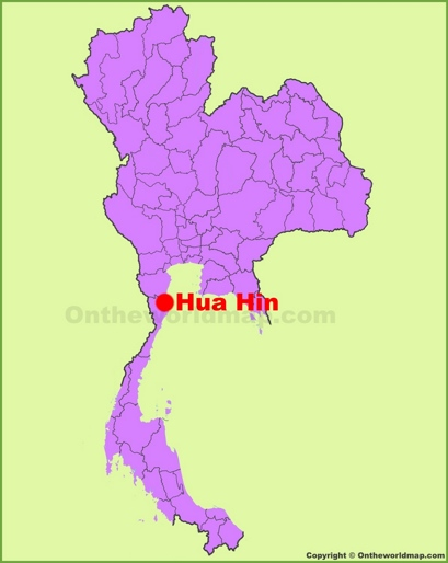 Hua Hin Location Map