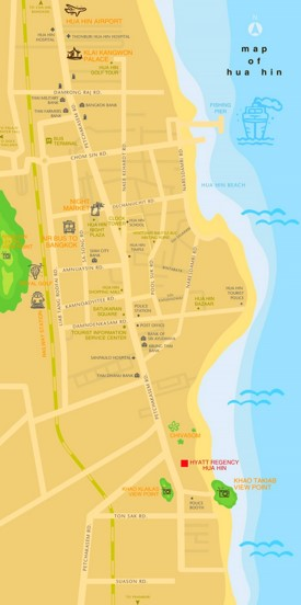 Hua Hin tourist map