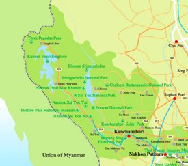 Kanchanaburi Province map