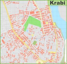 Detailed tourist map of Krabi Town