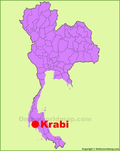 Krabi Location Map