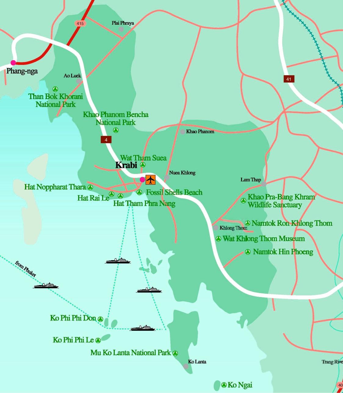 Map Of Krabi Krabi Province map