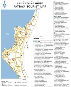 Pattaya sightseeing map