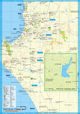 Pattaya tourist map
