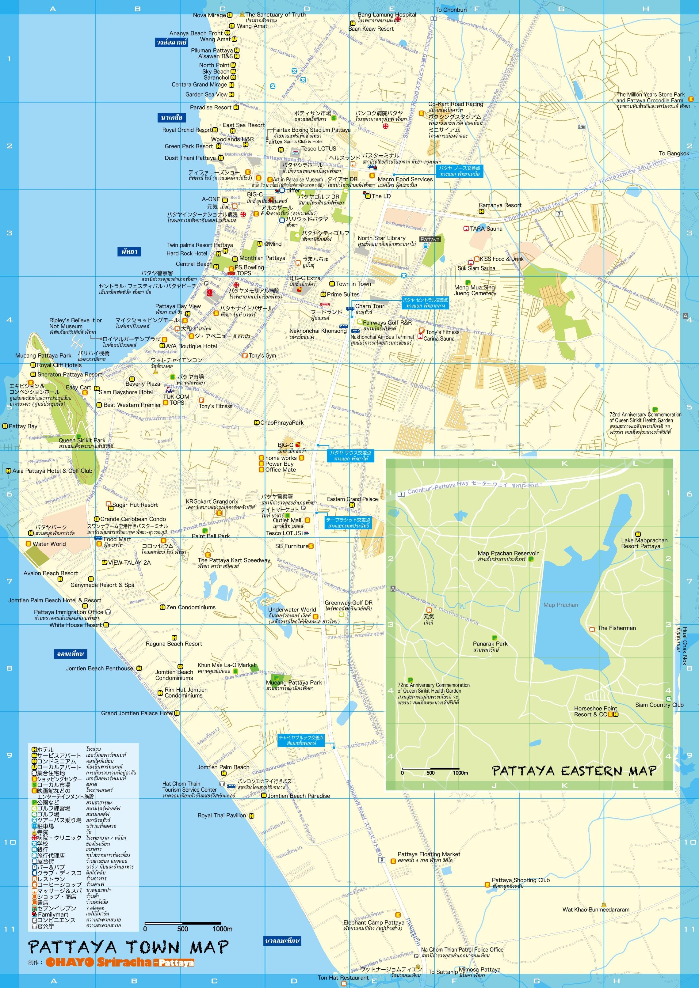 Pattaya Maps Thailand Maps Of Pattaya