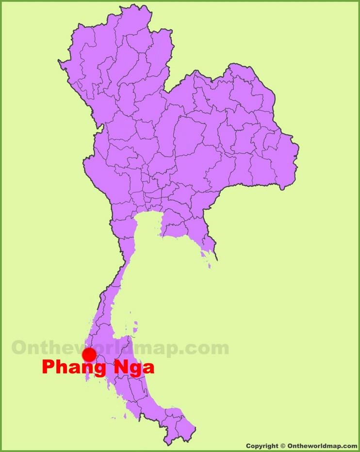 Phang Nga location on the Thailand Map