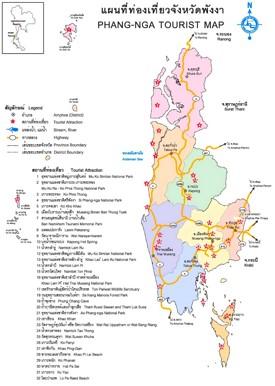 Phang Nga Province map