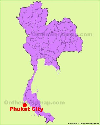 Phuket City Location Map