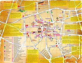 Phuket City tourist map