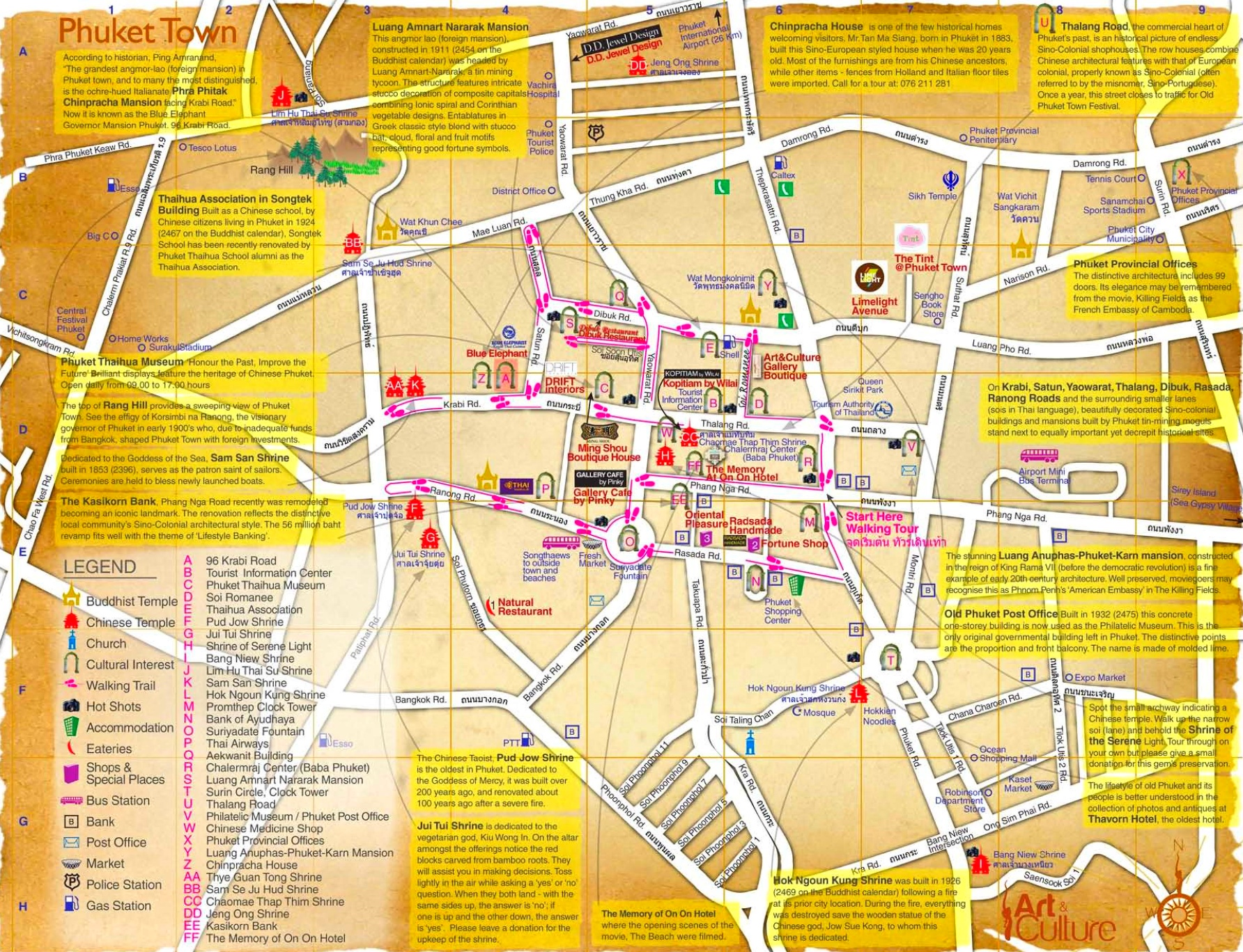 Phuket City tourist map