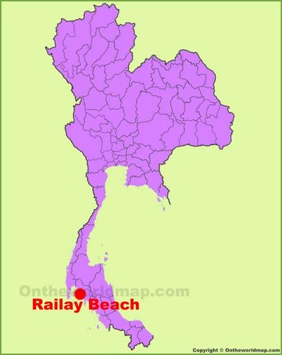Railay Beach Location Map