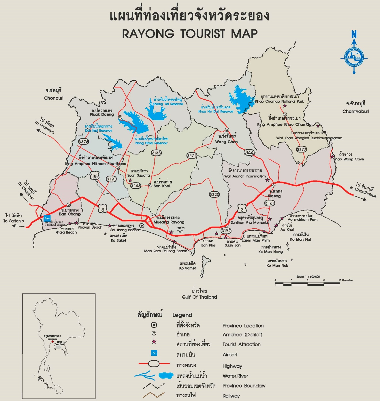 Rayong Province map